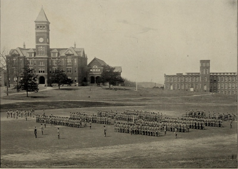 Cadets on Bowman Field 1904